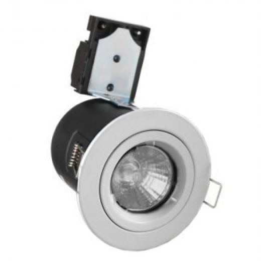White Cast GU10 240V Fire Rated Downlight