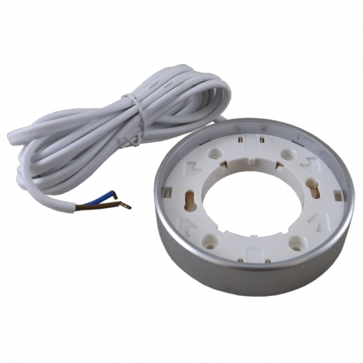 GX53 Mini Circular Fitting Silver Satin