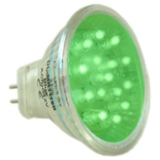 MR11 LED Green Light Bulb