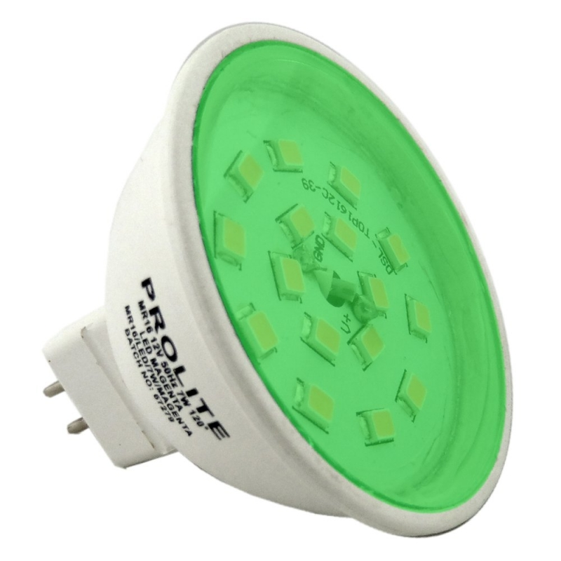Prolite LED MR16 12V 7W Green