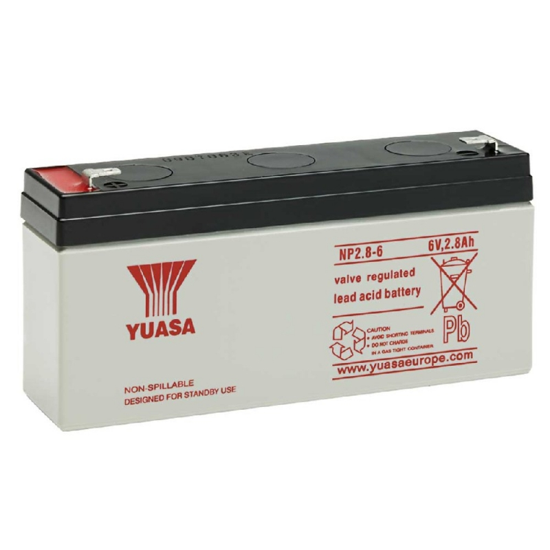 Yuasa Sealed Acid Battery 6V 2.8ah