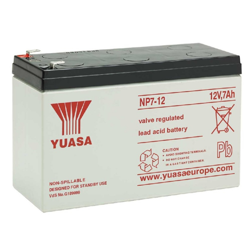 Yuasa Sealed Acid Battery 12V 7ah