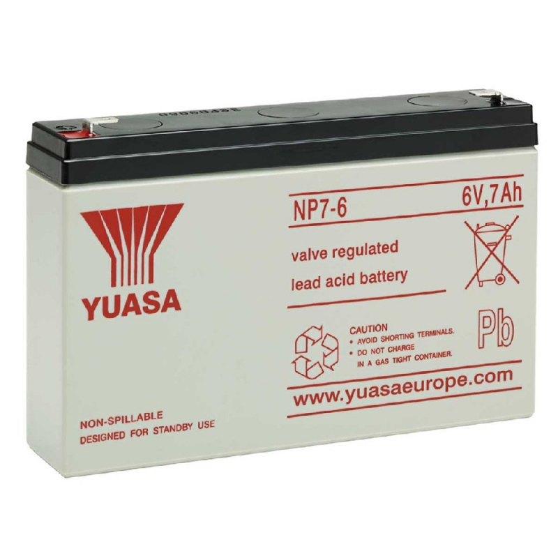 Yuasa Sealed Acid Battery 6V 7ah