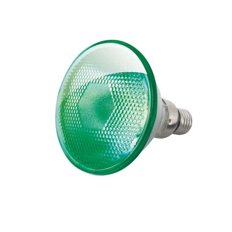 80 Watt ES/E27 PAR38 Green Reflector Lamp