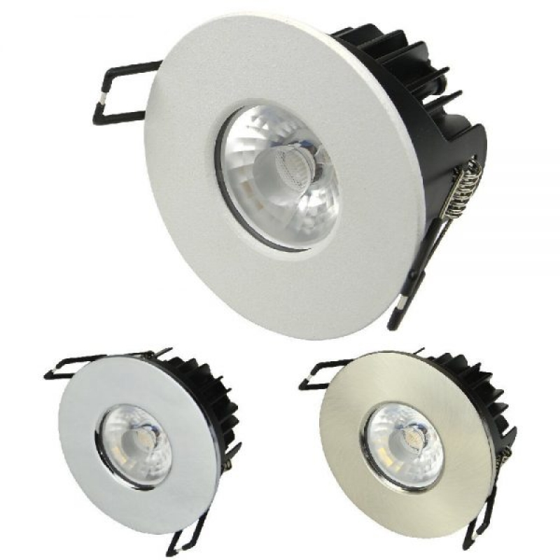 Dimmable Intergrated LED Downlight 10w 3 Bezels & Colour Temperatures