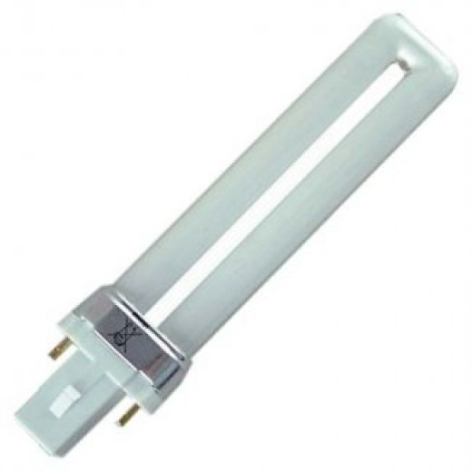 Compact Fluorescent S-2 Pin 7Watt Low Energy Fluorescent Lamp White