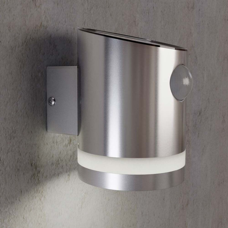 Stainless Steel Outdoor Solar Powered Truro Motion Wall Light - SS9931