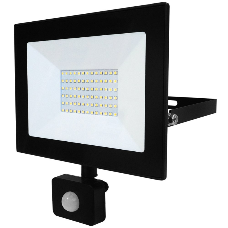 Eterna 50W IP44 LED Floodlight with PIR 4000K VECOF50PIR