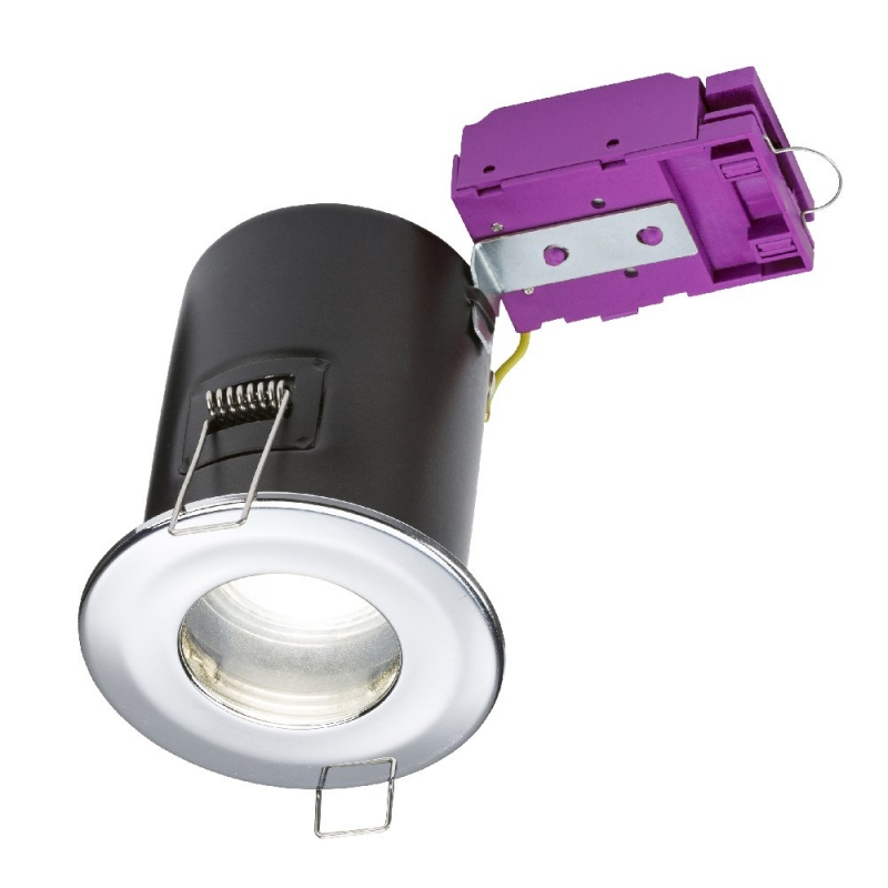 Knightsbridge 230V IP65 GU10 Fire-Rated Downlight Chrome