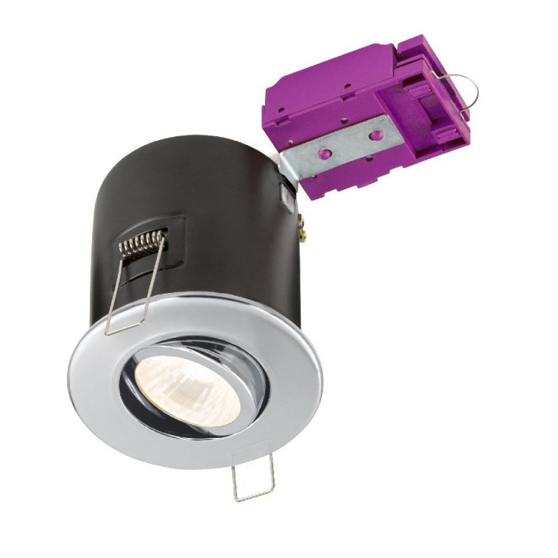 Knightsbridge 230V Tilt GU10 Fire-Rated Downlight Chrome