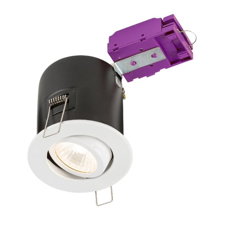 Knightsbridge 230V Tilt GU10 Fire-Rated Downlight White