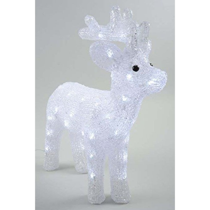 Acrylic 43cm LED Reindeer Cool White Outdoor Christmas Display 308249