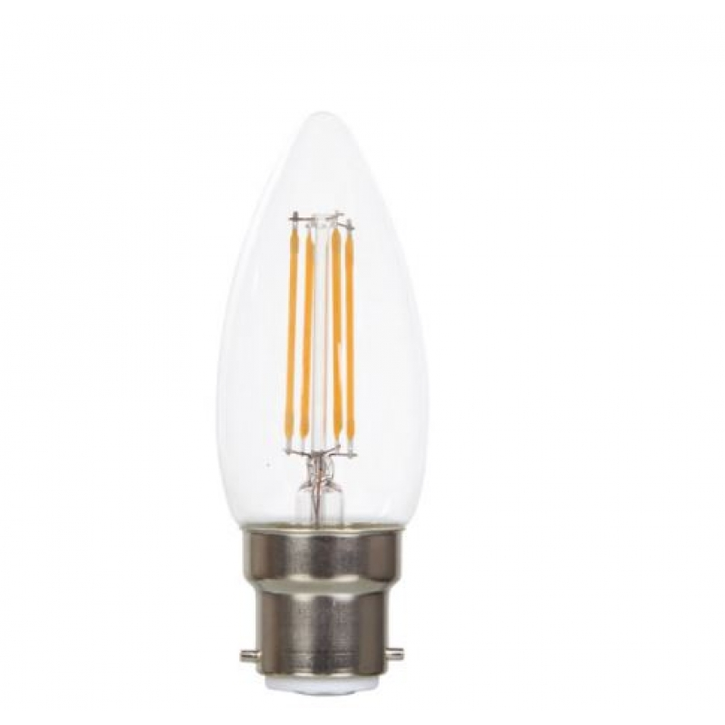 VLED Candle LED Filament 5w BC/B22 Dimmable FIL056