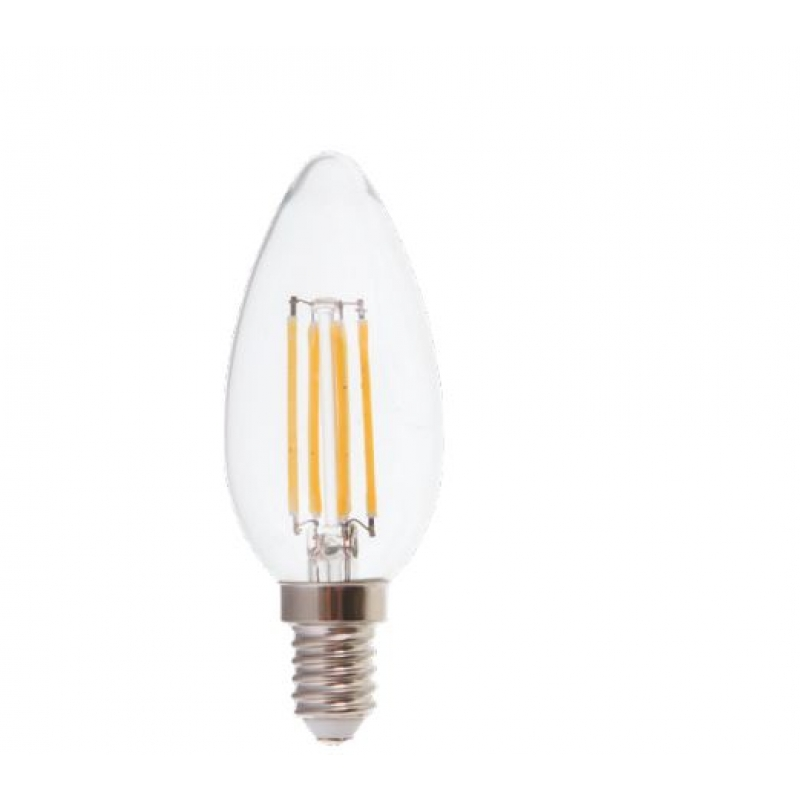 VLED Candle LED Filament 4w SES/E14 Dimmable FIL057