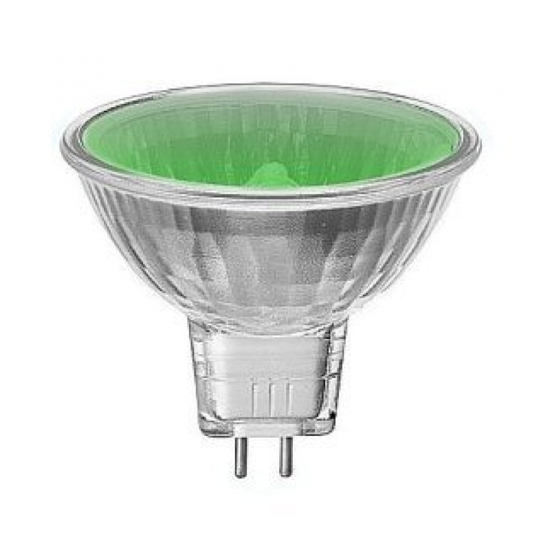 Green 12V 35W Halogen MR16 Dichroic Light Bulb