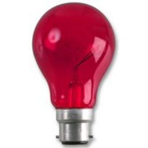 Crompton Harlequin Red 15Watt 240V BC Lamp