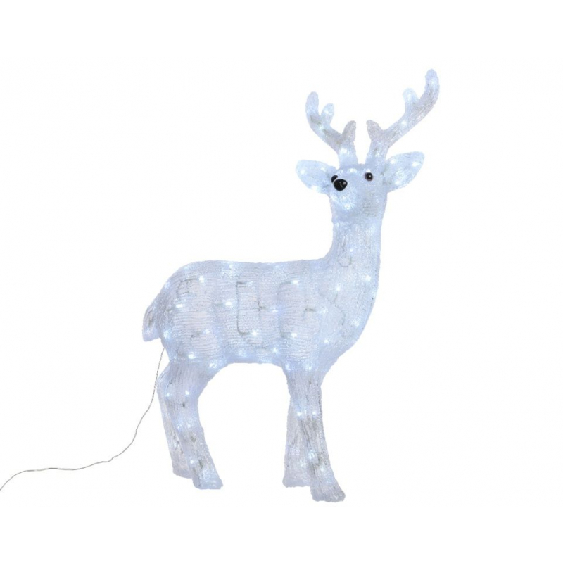 Kaemingk LED Acrylic Deer 120 LEDs Cool White