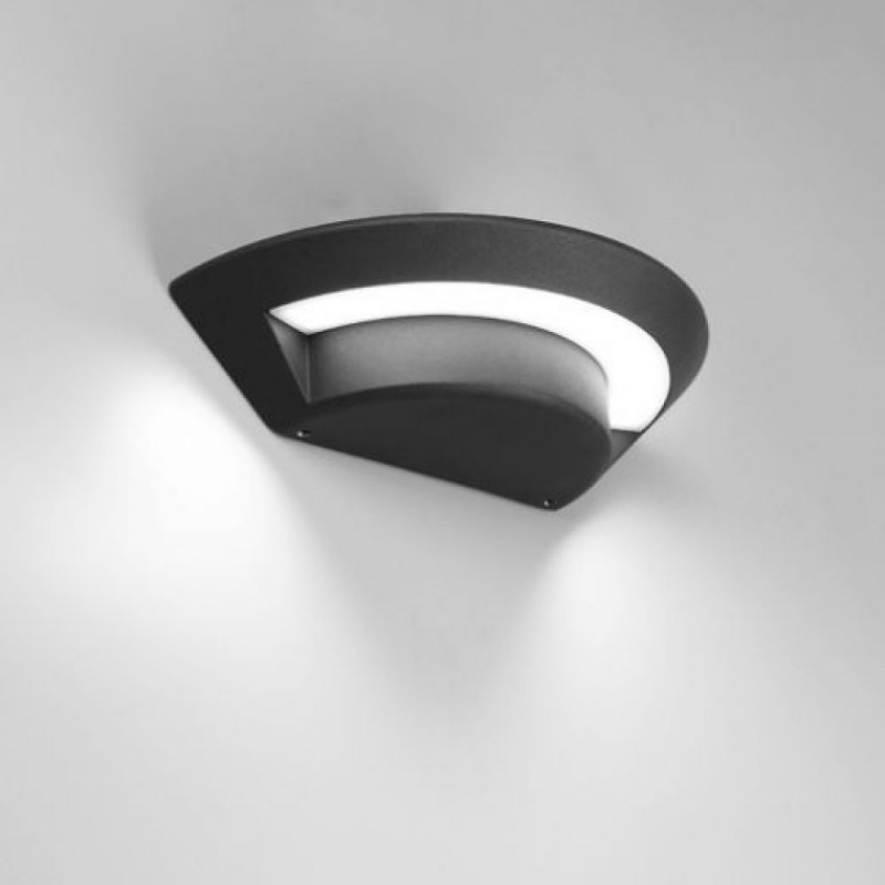 Lutec Ghost LED Outdoor Wall Light Graphite Grey 1880S