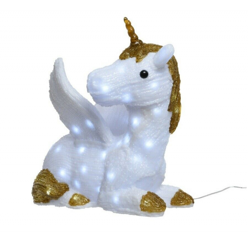 Kaemingk LED Acrylic Lying Unicorn Cool White