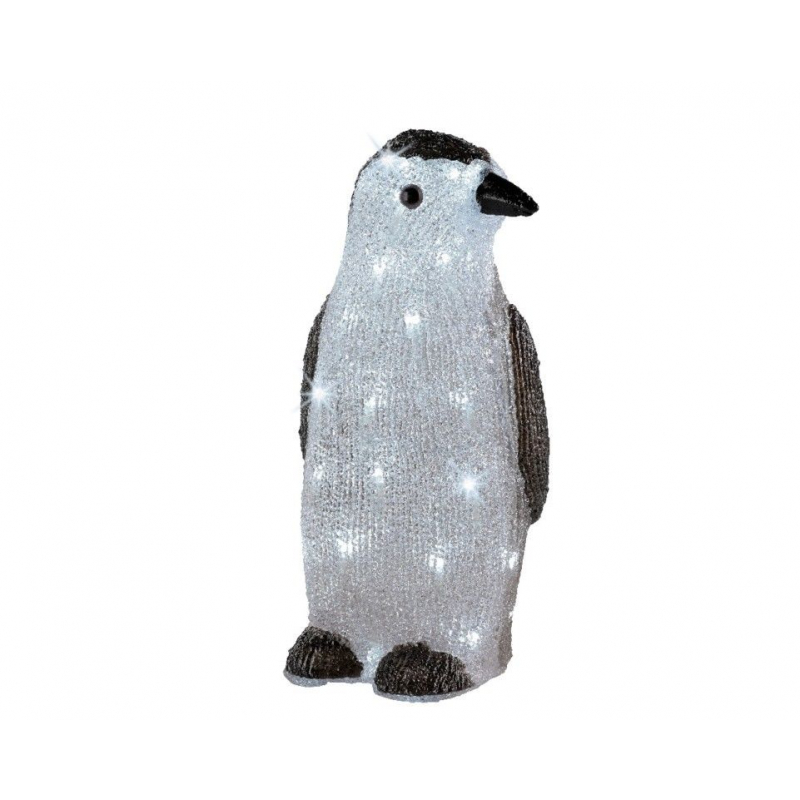 Kaemingk Outdoor LED Acrylic Penguin 38cm Cool White