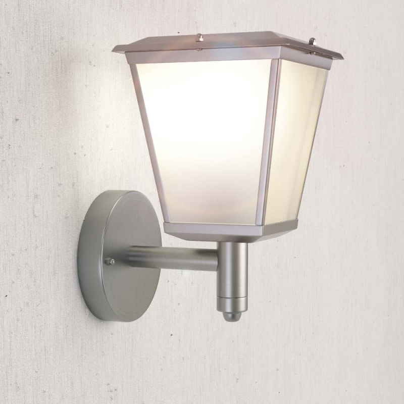Solar Powered Outdoor Stainless Steel Windsor Wall Light - SS9890