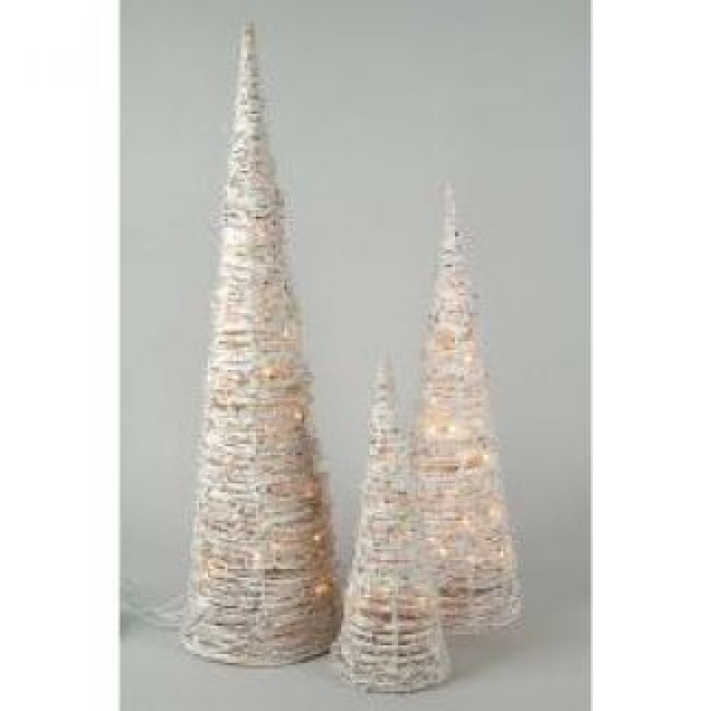 White Rattan Cones – Christmas and Festive Lights 680168